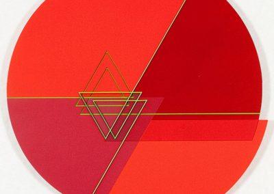 Relief ligne descriptive vert, 2012 Acrylique sur PVC 58 x 56 cm