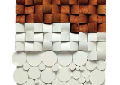 Relief RG043, 2010 Acrylique sur bois 70 x 70 cm