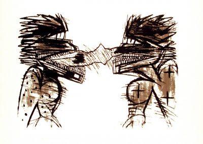 Sans titre, 1989 Sérigraphie sur papier 70,5 x 97,4 cm