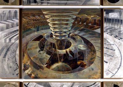 Sans titre, 2002 Technique mixte 150 x 160 cm