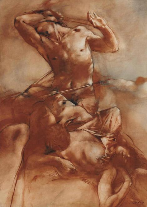 Sans titre, 1989 Huile sur toile 282 x 29 cm