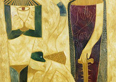 Sans titre, 1989 Huile sur toile 198 x 139 cm