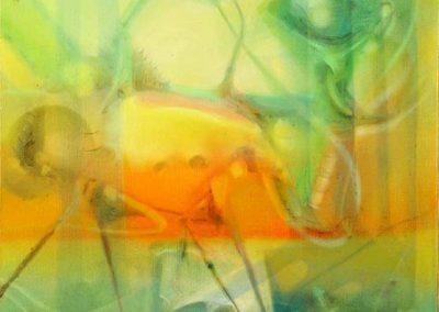 Sans titre, 1980 Huile sur toile 55 x 46 cm