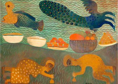 Sans titre, 2002 Huile sur toile 60 x 80 cm