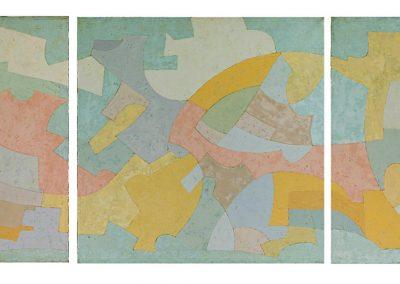 Sans titre (triptyque), 1981 Technique mixte 8 panneaux de 80 cm