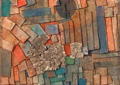 Sans titre, 1960 Papier sur bois 70 x 66 cm