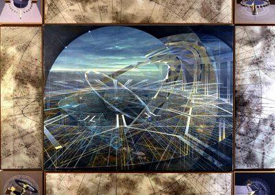 Sans titre, 2006 Technique mixte 300 x 180 cm
