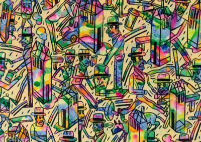 Sans titre, 1989 Technique mixte 100 x 100 cm