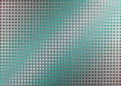 Saturation metallique, 1988 Acrylique sur toile 80 x 80 cm