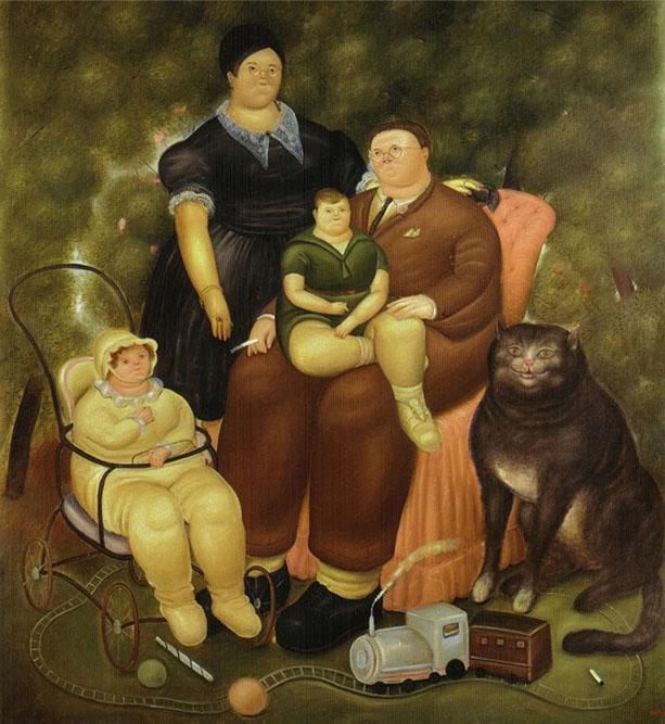 Scène de famille, 1969 Huile sur toile 211 x 195 cm