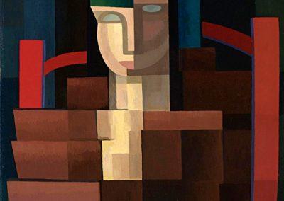 La Señorita del Sombre Verde, 1919 Huile sur toile 56 x 46 cm