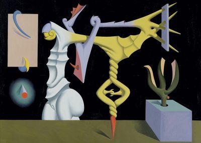 Le serpent enrageur, 1968 Huile sur toile 115 x 147 cm