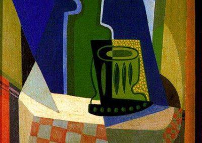 Sombras en la ventana, 1925 Huile sur toile 42 x 26 cm