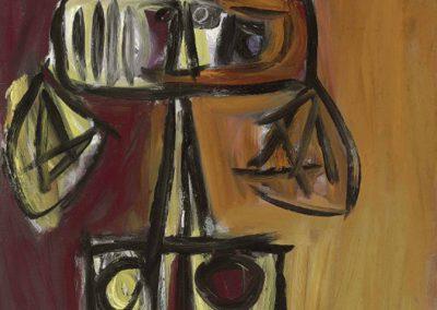 Sorcière jaune, 1965 Huile sur toile 100 x 100 cm