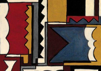 Structure avec formes fermées, 1933 Détrempe sur panneau 75 x 52 cm