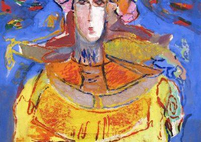 Suspicion, 1980 Huile sur toile 92 x 73 cm