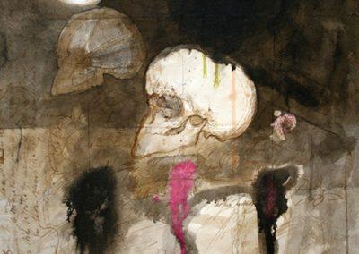 Ténèbres, 1967 Encre et aquarelle 66 x 50 cm