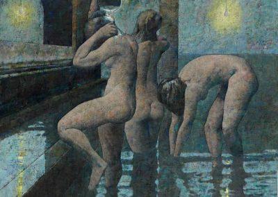 Trois baigneuses, 1993 Huile sur toile 60 x 73 cm