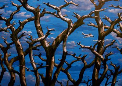 Troncs, 2008 Acrylique sur toile 200 x 200 cm