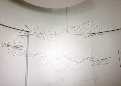 Installation Turbulences Exposition pour l'espace culturel Louis Vuitton 2012