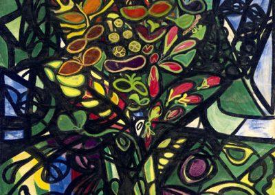 Un jardin, 1945 Gouache sur papier 104 x 79 cm