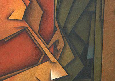 Le visiteur absent, 1983 Acrylique sur toile 116 x 88,5 cm